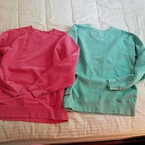 2 oversized sweatshirts Comfort Colors sz S